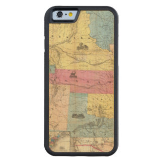 Nebraska and Kansas 3 Carved Maple iPhone 6 Bumper Case