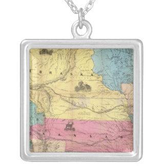 Nebraska and Kansas 3 Silver Plated Necklace