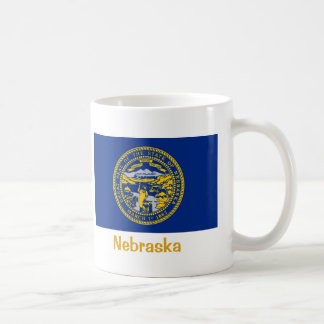 Nebraska State Flag Basic White Mug