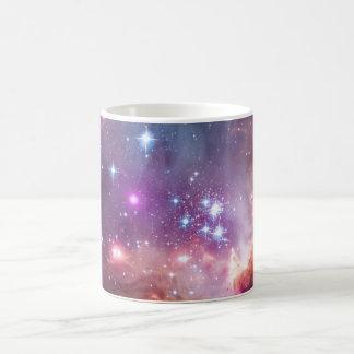 Nebula bright space stars galaxy hipster geek cool basic white mug