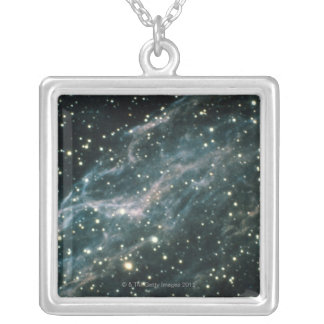 Nebula in Cygnus Silver Plated Necklace