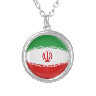 "Necklace + 18"" chain Iran flag"