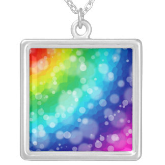 Necklace - Bokeh Rainbow Pattern