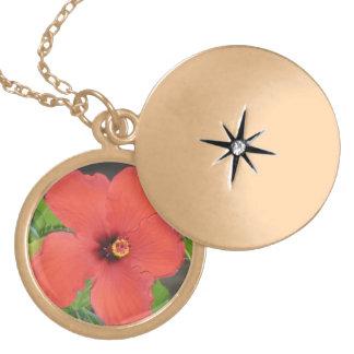 Necklace Locket - Hawaiian Flower