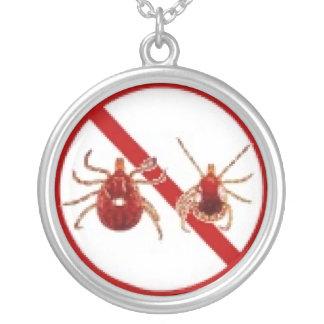 Necklace, Lyme Disease Tick Awareness Round Pendant Necklace