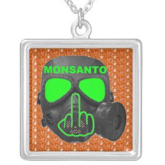 Necklace Monsanto Gas Mask Flip