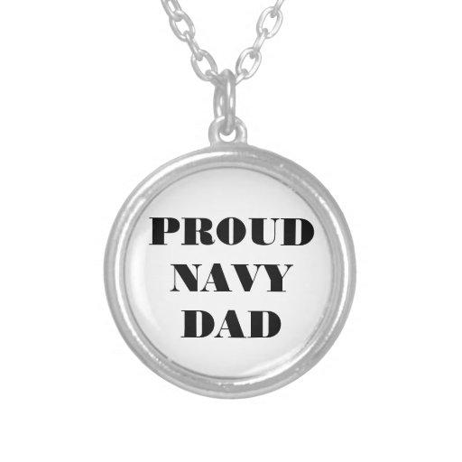 Necklace Proud Navy Dad
