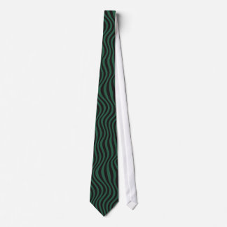 Necktie Verde Waves
