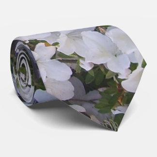 Necktie - White Azalea