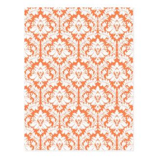 Nectarine Orange Damask Postcards