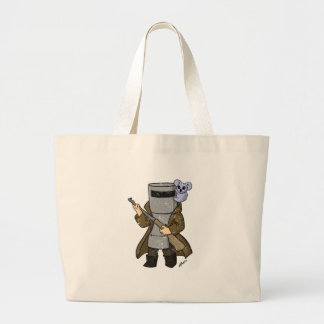 ned kelly distressed large tote bag