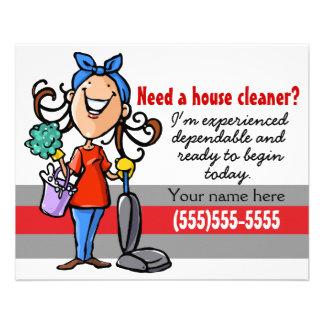 Need a Housecleaner? Custom marketing flyer