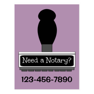 Need a Notary? Rubber Stamp Postcard