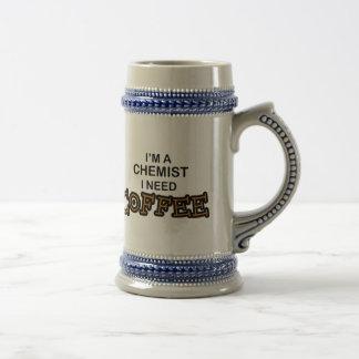 Need Coffee - Chemist 18 Oz Beer Stein