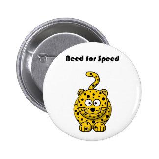 Need for Speed Cheetah Cartoon 6 Cm Round Badge