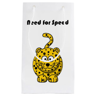Need for Speed Cheetah Cartoon Small Gift Bag