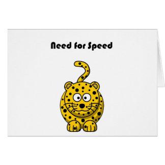 Need for Speed Cheetah Cartoon Greeting Card