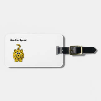 Need for Speed Cheetah Cartoon Tag For Bags