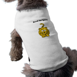 Need for Speed Cheetah Cartoon Sleeveless Dog Shirt