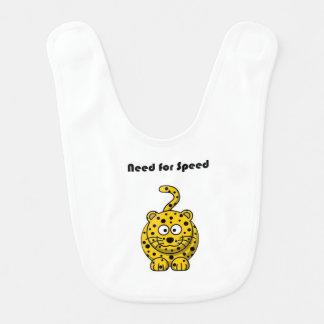 Need for Speed Cheetah Cartoon Baby Bibs