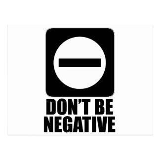 Negative 2 Black Postcard