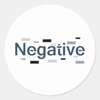 Negative Classic Round Sticker