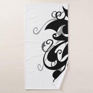 Negative Shadow Swirl Bath Towels