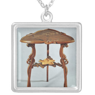 Nenuphar side table, c.1900 silver plated necklace
