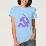 Neo Dark Lilac & Blue Hammer & Sickle on Lilac Tshirts
