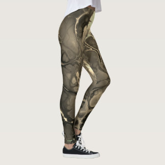 Neon Abstract #1 in Sepia Leggings