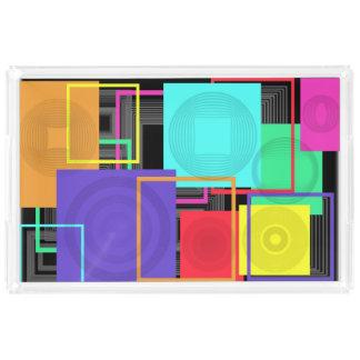Neon Abstract Acrylic Tray