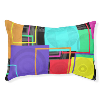 Neon Abstract Pet Bed