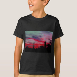 Neon Arizona Desert Skyline T-Shirt