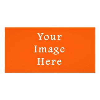 Neon Bright Orange Color Trend Blank Template