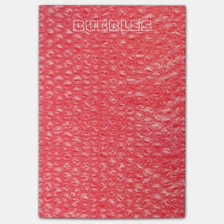 Neon Cherry Red Pop Bubble Wrap Post-it® Notes