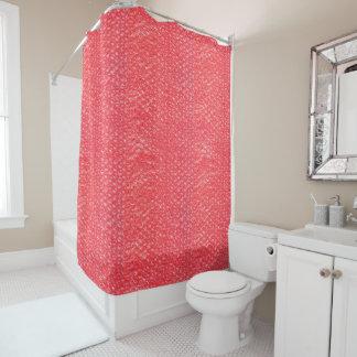 Neon Cherry Red Pop Bubble Wrap Shower Curtain
