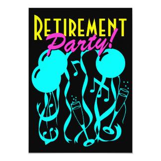 Neon color retirement party invitations template