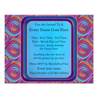 Neon Cubism Personalized Announcement