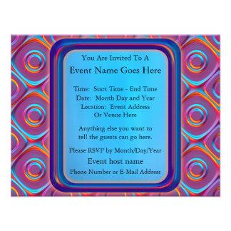 Neon Cubism Invite