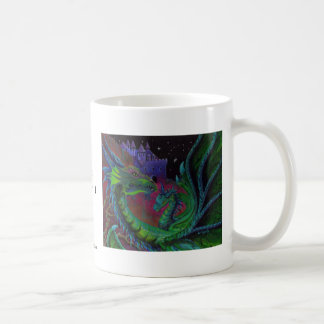 NEON DRAGON 1 by Lori Karels Coffee Mug