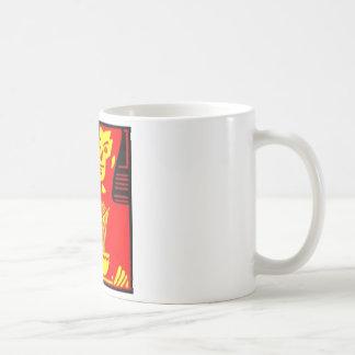 Neon Eating Man Basic White Mug