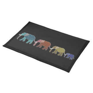 Neon Elephant Safari American Mojo Placements Placemat