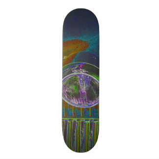 Neon Firetruck Design Skate Decks