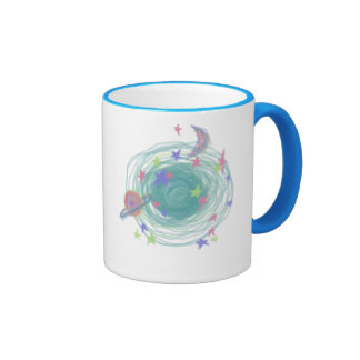 Neon Galaxy Ringer Mug