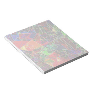 Neon Geometric Fractal Notepad