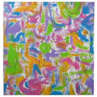Neon Graffiti - Abstract Art Brushstrokes Napkin