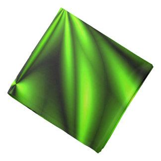 Neon Green Abstract Fractal Head Kerchiefs