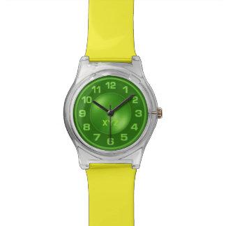 Neon Green custom monogram watches