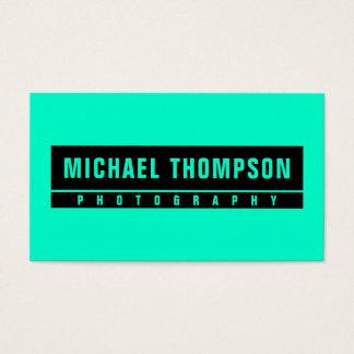 Neon green standout look cyan edit business card