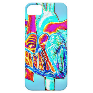 Neon Hand Drawn Anatomical Heart Barely There iPhone 5 Case